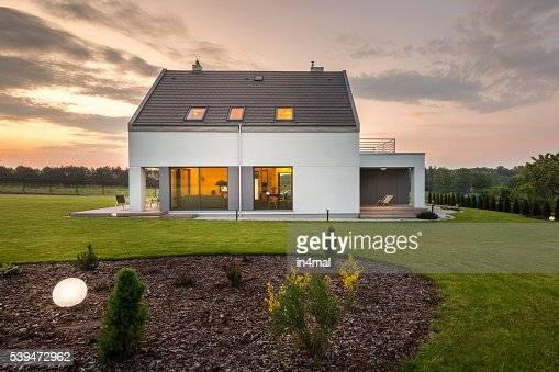 When modern architecture meets nature... : Stock Photo