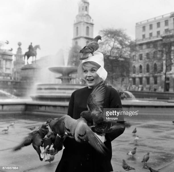 When 'pink' Dorothy Provine arrived in London today she wanted to see the town and do some rubber necking at the famous sights The American actress...