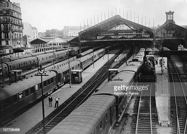 When The General Strike Of Public Transport Trains Stranded At The Gare Saint Lazare In 1948