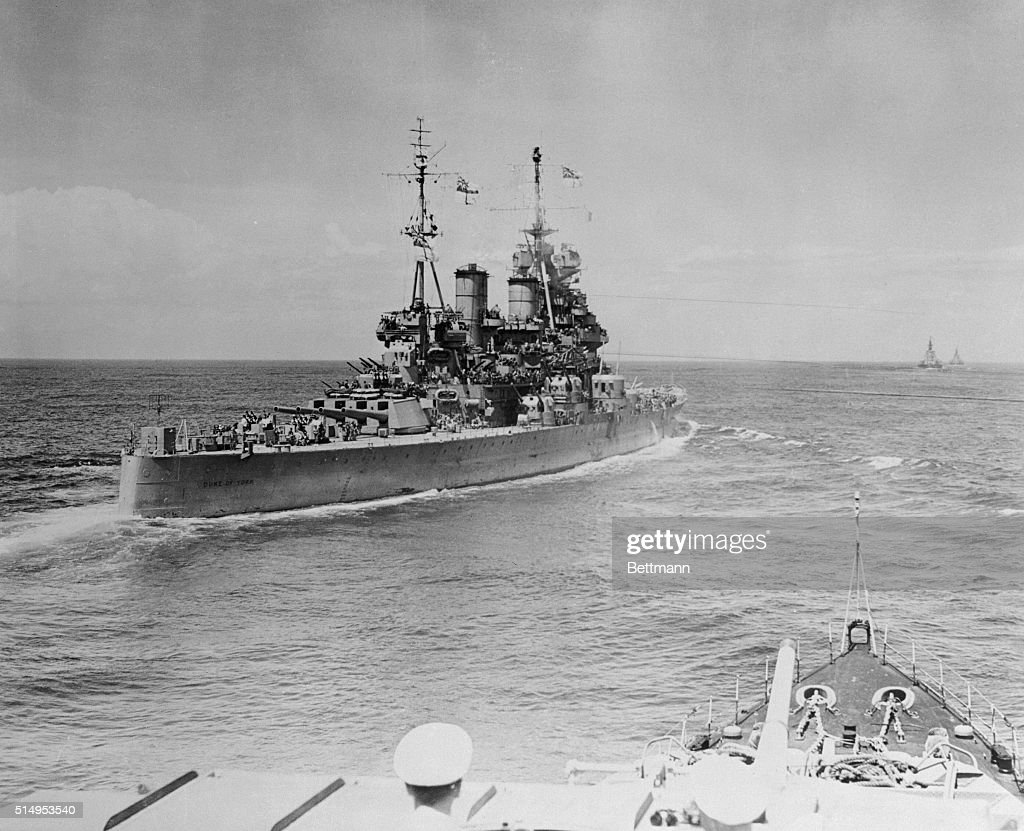 When the Japanese signed the Allied Surrender terms aboard the USS Missouri in Tokyo Bay on September 1st the HMS Duke of York flagship of Admiral...