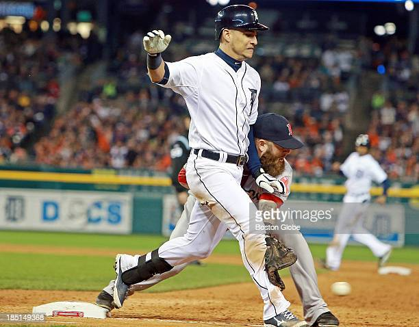 When the Tigers' Jose Iglesias singled sharply to right field in the eighth inning the ball was hit so hard that Red Sox right fielder Shane...