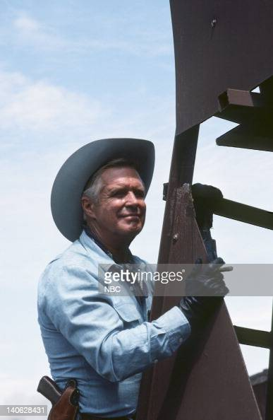 TEAM 'When You Comin' Back Range Rider Part 1 and 2' Episode 5 6 Pictured George Peppard as John 'Hannibal' Smith Photo by Frank Carroll/NBCU Photo...