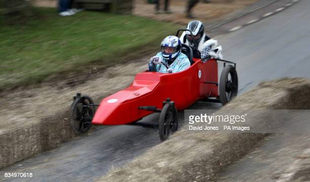 'Where'd she come' trims the hay bales as they negotiate the chicane at the Hoar Cross Downhill soapbox competition The competition organised by the...