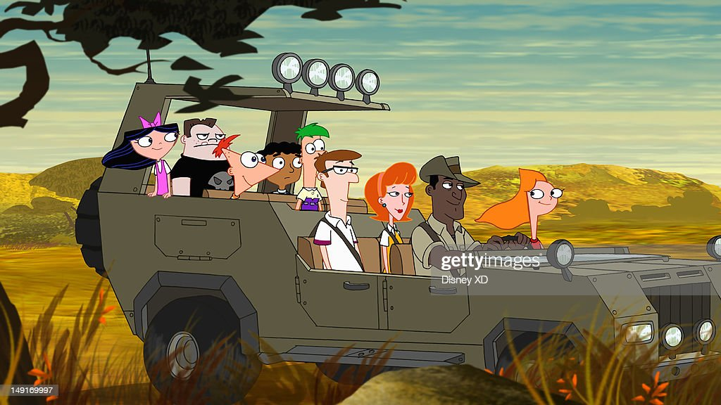 FERB - 'Where's Perry?, Part 1' - In Disney Channel's cliffhanger storyline, 'Where's Perry?, Part One' premiering THURSDAY, JULY 26 (9:00 p.m., ET/PT), Phineas and Ferb embark on an African safari vacation while their loyal pet platypus Perry stays back in Danville to handle a Dr. Doofenshmirtz emergency. As the story unfolds, Dr. Doofenshmirtz tries to take over the OWCA with his Ultimate Evil-inator, but it inadvertently zaps Carl the Intern, turning him evil. Several of Dr. Doofenshmirtz's '-inators' hit Perry, causing him to disappear and quickly prompting the question: where's Perry? Meanwhile, in Africa, Candace frantically searches for a cell phone signal to get through to Jeremy back in Danville while Phineas and Ferb build a highly unconventional vehicle to explore an unchartered gorge. Guest starring are Vanessa Williams (ABC's '666 Park Avenue') as the flight attendant, Harold Perrineau (ABC's 'Lost') as the Maître D and Edi Gathegi ('X Men: First Class') as Iggy, the safari guide. Starring are: Vincent Martella ('Phineas'), Thomas Brodie-Sangster ('Ferb'), Ashley Tisdale ('Candace'), Alyson Stoner ('Isabella'), Caroline Rhea ('Linda'), Richard O'Brien ('Lawrence'), Dee Bradley Baker ('Perry'), Barry Bostwick ('Grandpa'), Mitchel Musso ('Jeremy'), Maulik Pancholy ('Baljeet'), Bobby Gaylor ('Buford'), Tyler Mann ('Carl the Intern'), Kelly Hu ('Stacy'), John Viener ('Norm'), Swampy Marsh ('Major Monogram') and Dan Povenmire ('Dr. Doofenshmirtz'). ISABELLA, BUFORD, PHINEAS, BALJEET, FERB, DAD, MOM, IGGY, CANDACE