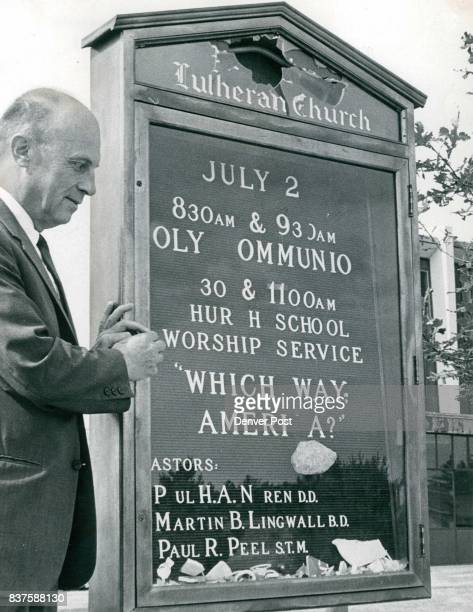 JUN 30 1967 JUL 1 1967 'Which Way America' The Rev Dr Paul H A Noren pastor of Augustana Lutheran Church 5000 E Ala­meda Ave observes the...