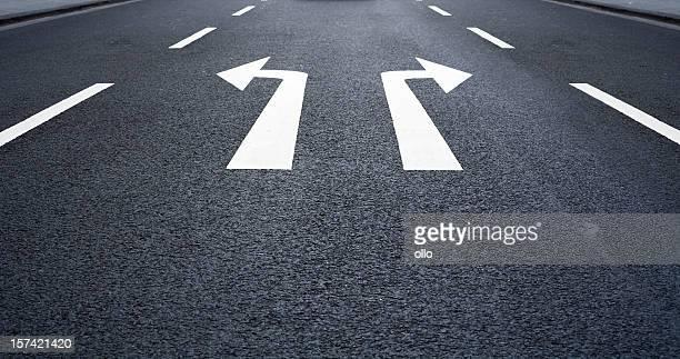Der Weg -Road markieren, Pfeil Zeichen