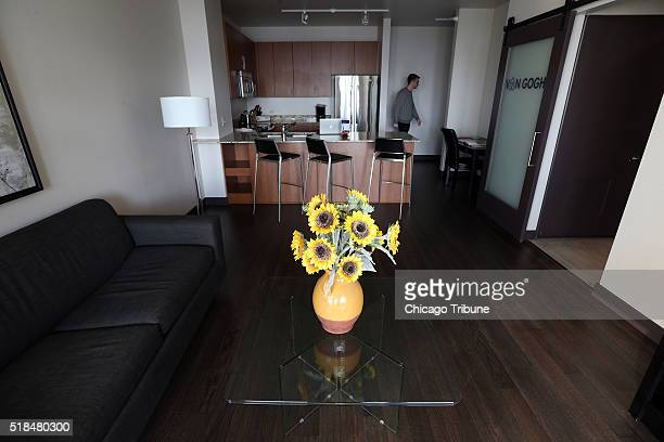 While the bedroom of an Air BnB rental apartment in Chicago has been outfitted by the Art Institute of Chicago to look like the one Van Gogh painted...