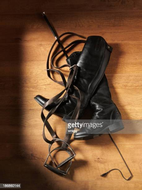 Whip, Boots and Stirrups for Horse Riding