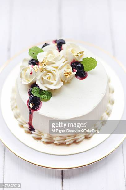 Whipped Cream Decorated Cake