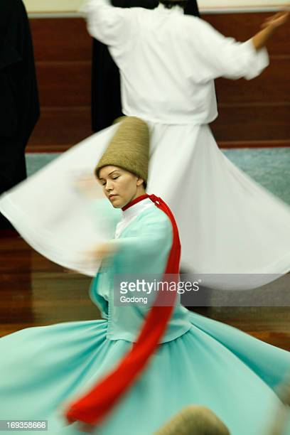 Whirling dervish performance in Silvrikapi Meylana cultural center