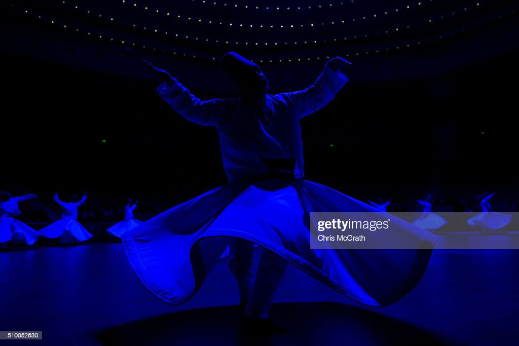 Whirling Dervishes perform a Sema ceremony on February 13, 2016 in Konya, Turkey. The Sema ceremony is performed by members of the Mevlevi Order or more famously known as Whirling Dervishes, due to the whirling performed during the ceremony. The Mevlevi order of dervishes was founded by Jalal ad-Din Muhammad Balkhi-Rumi. Rumi whose religion was love, was one of the worlds most read poets, after his death in 1273 the order was continued by his sons and grandsons. Today pilgrims come from across Turkey and overseas to visit Konya and the site of RumiÕs tomb, one of Turkey's most visited tourist attractions. Despite the Mevlevi order being shut down and made illegal in 1925 by the new Turkey republic, today the whirling dervishes are the symbol of Turkey's tourism campaigns and in 2008 the Sema ceremony was confirmed by UNESCO as amongst the Masterpieces of the Oral and Intangible Heritage of Humanity.