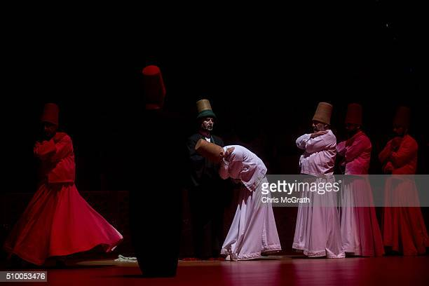 Whirling Dervishes perform a Sema ceremony on February 13 2016 in Konya Turkey The Sema ceremony is performed by members of the Mevlevi Order or more...