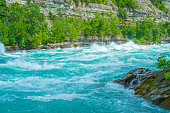 The shear power and beauty of nature are highlighted in this photograph of the whirlpool rapids on the Niagara River.