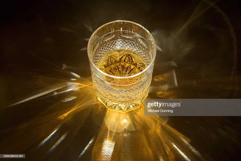 Whiskey in whiskey glass, close-up : Stock Photo