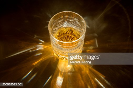 Whiskey in whiskey glass, close-up