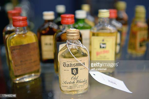 Whiskies going on sale today are seen at McTears Auctioneers on September 4 2013 in GlasgowScotland Whiskey collectors as far afield as the United...