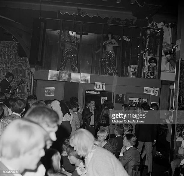 Whisky a Go Go dancers perform during a Frank Zappa Concert called a 'Freak Out' at Whisky a Go Go in Los Angeles California'n 'n