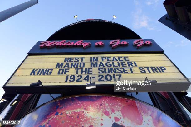 Whisky a Go Go marquee featuring tribute to Mario Maglieri on May 7 2017