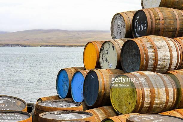 Whisky Barrels on the Coast of Islay
