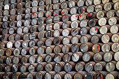 Whisky casks / barrels in Speyside, Scotland