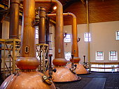 a whisky distill at the scotch highlands.