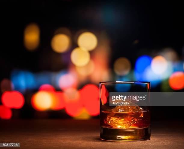 Whisky in city background