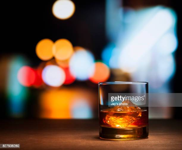 Whisky in night background