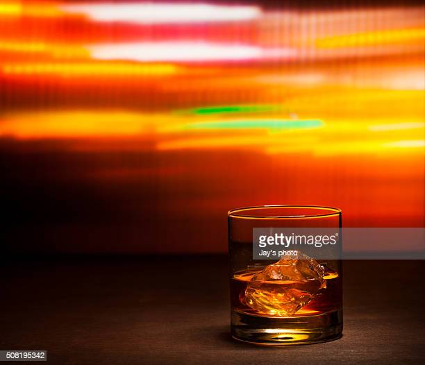 Whisky in party background