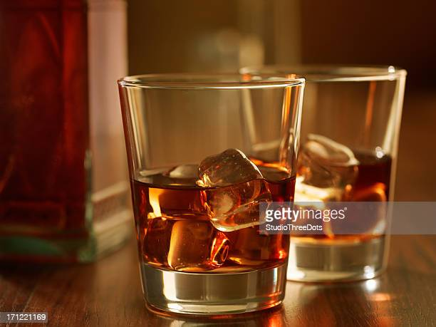 whisky on rock
