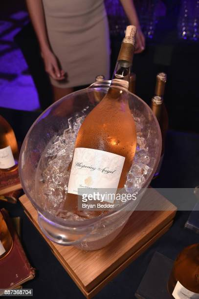 Whispering Angel on display at DuJour's Jason Binn And WellNEST Celebrate Miami Beach's Art Basel KickOff at The Confidante on December 6 2017 in...