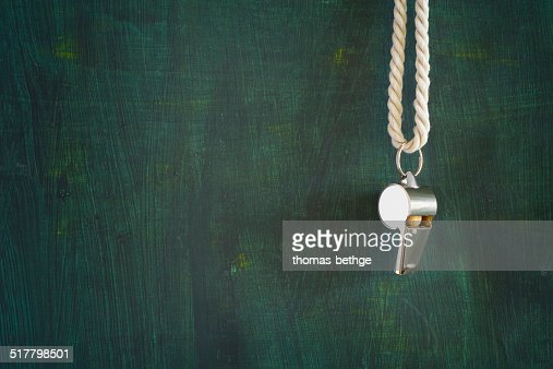 whistle of a referee : Stock Photo