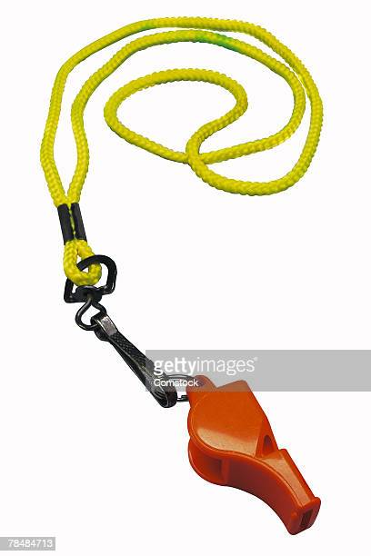 Whistle on a lanyard