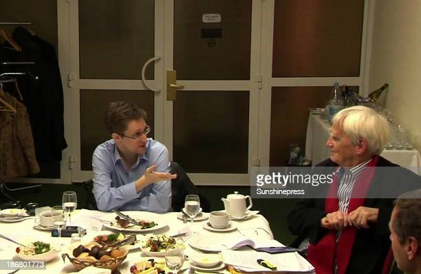 NSA whistleblower Edward Snowden during a meeting with German Green Party MP HansChristian Stroebele regarding being a witness for a possible...