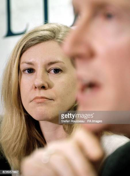 GCHQ whistleblower Katharine Gun with her solicitor James Welch today during a press conference held in London after she was cleared at the Old...