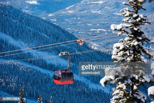 Whistler ski resort in winter : Stock Photo