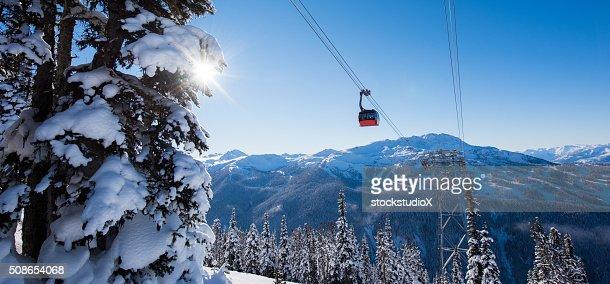 Whistler ski resort in winter : Stock Photo
