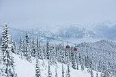 Gondola at the Whistler Blackcomb resort in winter