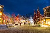 Whistler's world class pedestrian village in winter
