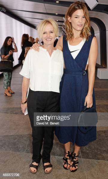 Whistles CEO Jane Shepherdson and Hanneli Mustaparta attend the Whistles SS 2015 presentation during London Fashion Week at Kings Cross Tunnel on...