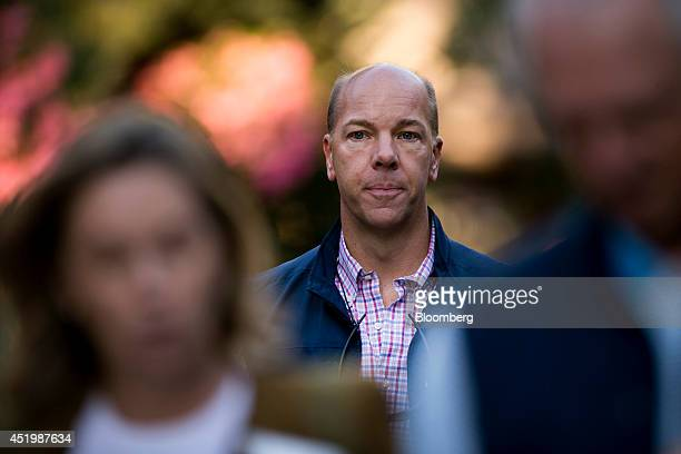 Whit Gardner chairman and chief executive officer of Gardner Lewis Asset Management arrives to a morning session during the Allen Co Media and...