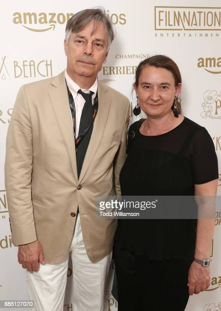Whit Stillman and Lauranne Bourrachat attend the 'Wonderstruck' Cannes After Party on May 18 2017 in Cannes
