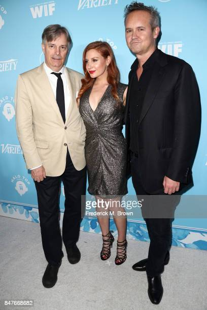 Whit Stillman Lila Feinberg and Roy Price attends the Variety and Women In Film's 2017 PreEmmy Celebration at Gracias Madre on September 15 2017 in...