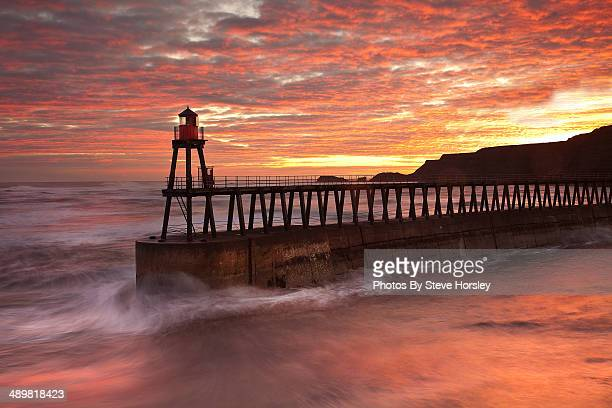 Whitby Pier at sunrise