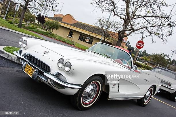 White 1956 Chevrolet Corvette