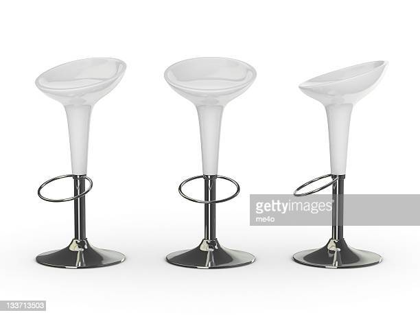 white 3d bar chair