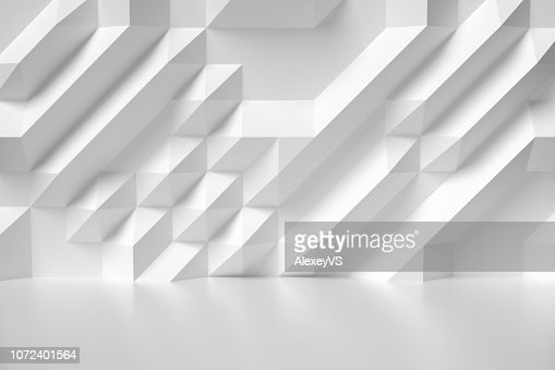 White abstract room wall colorless illustration : Stock Photo
