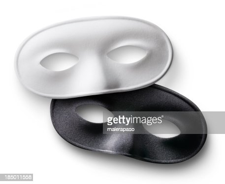 White and black masks : Stock Photo