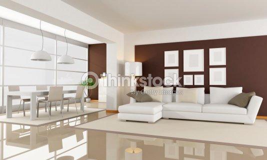 Bianco E Marrone Soggiorno Foto stock | Thinkstock