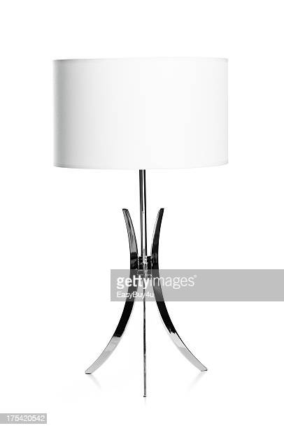 White and chrome lamp
