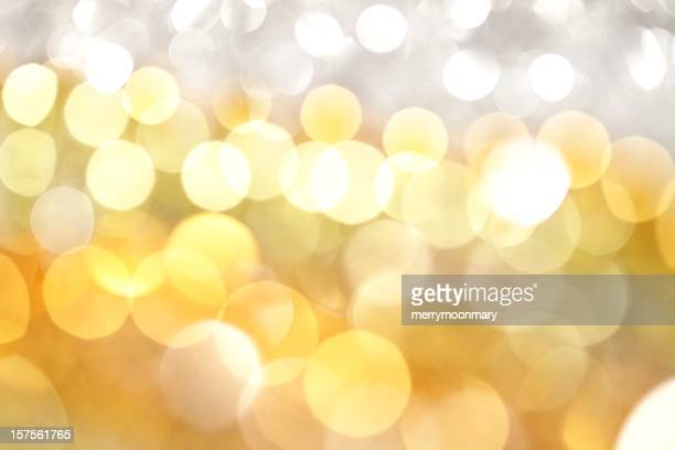 White and Gold Lights Background